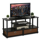 Furinno TV Stand 15119EXBKBR