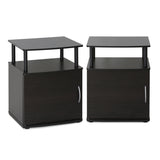 Furinno JAYA Utility Design End Table, Set of Two, 2-15114BKW
