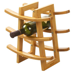 Furinno 9-Bottle Wine Rack FK9136