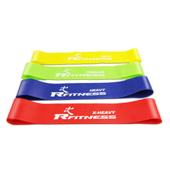 Furinno 12-Inch Latex Exercise Band RF1503-4 SET OF 4
