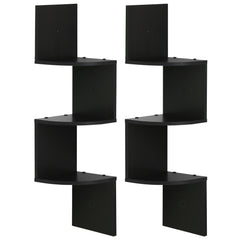 Furinno 3 Tier Floating Corner Shelf, Multiple Colors
