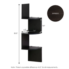Furinno 3 Tier Floating Corner Shelf 2FR16126EX