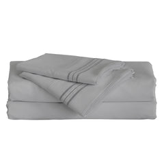 Furinno 3-Piece Microfiber Bed Sheet Set FB1703GYT