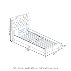 Furinno Button Tufted Bed Frame FB18011T-BG