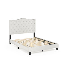 Furinno Button Tufted Bed Frame FB18011F-BG