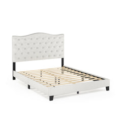 Furinno Button Tufted Bed Frame FB18011Q-BG
