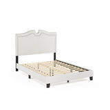 Furinno Nailhead Trim Bed Frame FB18012F-BG