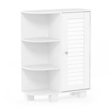 Furinno Storage Shelf with Louver Door Cabinet FR18695WH