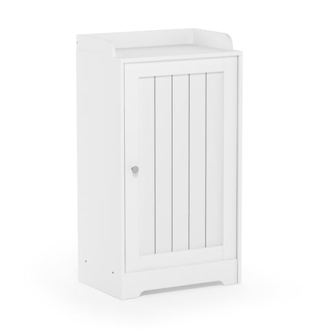Furinno Standing Louver Door Cabinet FR18696WH