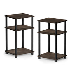 Furinno 3-Tier End Table 2-11087CWN SET OF 2
