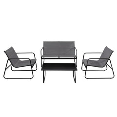 Furinno Outdoor Dining Set FG183005GY/BK