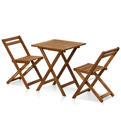 Furinno Outdoor 3 Piece Bistro Set FG3611298