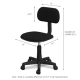 Furinno Hidup Mesh Low-Back Nylon Base Swivel Chair, Black (FCR101GBK)