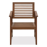 Furinno Tioman Teak Hardwood Outdoor Armchair without Cushion, Set of Two (FG161249R)