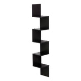 Furinno 5 Tier Corner Square Shelf FR16123EX