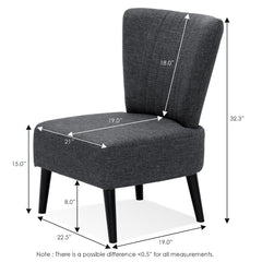 Furinno Accent Chair SF201N26DGY
