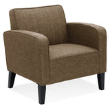 Furinno Euro Classic Upholstered Arm Accent Chair, Brown(SF103N5BR)