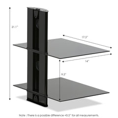 Furinno 2-Tier Wall Shelf FRL001BK