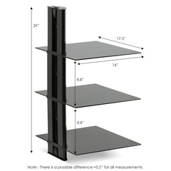 Furinno 3-Tier Floating Wall Shelf FRL002BK