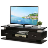 Furinno FVR Entertainment Center with 2 Drawers and Glass Shelf, Wenge (FVR7231WG)