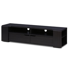 Furinno FVR Entertainment Center with 2 Drawers, Wenge (FVR7278WG)