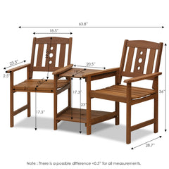 Furinno Outdoor Chair Set FG17488