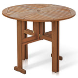 Furinno Outdoor Gateleg Round Table FG17035