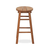Furinno Tioman Outdoor Hardwood Promo Arch Bar Stool, Set of 2 (FG17629)
