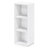 Furinno 3-Tier Open Shelf Bookcase, White (11003WH)