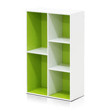 Furinno 5-Cube Open Shelf 11069WH/GR