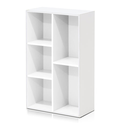 Furinno 5-Cube Open Shelf, White (11069WH)