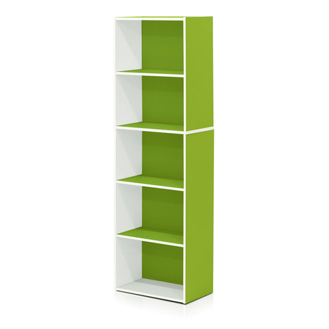 Furinno 5-Tier Reversible Open Shelf 11055WH/GR