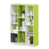 Furinno Reversible Open Shelf Bookcase 11107WH/GR