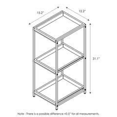 Furinno 3-Tier Tray Shelf WS17315