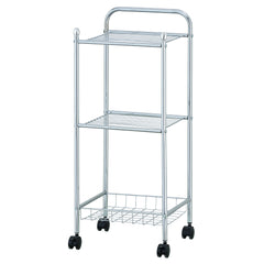 Furinno 3-Tier Tray Shelf with Casters WS17321