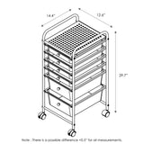 Furinno 6-Drawer Trolley WS17185