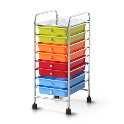 Furinno 8-Drawer Trolley WS17186RB