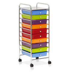 Furinno 10-Drawer Trolley WS17187RB