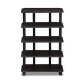 Furinno 5-Tier Corner Storage Shelf 17037EX/BK