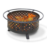 Furinno Outdoor Round Firepit with Log Grill FPT17069