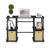 Furinno Computer Desk with Storage Bins 17072EX