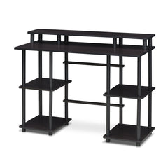 Furinno Computer Desk with Top Shelf 17045EX/BK