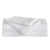 Furinno 3-Piece Microfiber Bed Sheet Set FB1717WHT