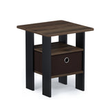 Furinno End Table Nightstand, Multiple Colors