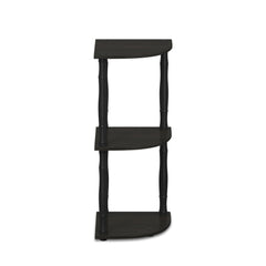 Furinno 3-Tier Corner Display Rack 18031EX/BK