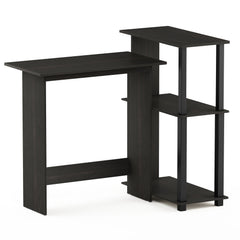 Furinno Corner Computer Desk with Bookshelf 16086R1EX/BK