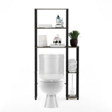 Furinno Toilet Space Saver with 5 Shelves 17050GYW/BK