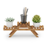 Furinno 3-Tier Bamboo Planter Shelf FNAJ-33145
