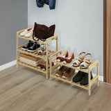 Furinno Pine Solid Wood 2-Tier Shoe Rack FNCJ-33040N