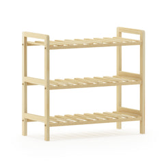 Furinno Pine Solid Wood 2-Tier Shoe Rack FNCJ-33041N